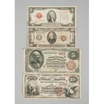 Group of United States Dollar Bills