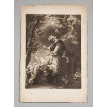 Two John Singleton Copley (American, 1738-1815) Engravings together with 3 Engravings