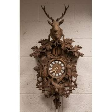 Black Forest Carved Cuckoo Clock
