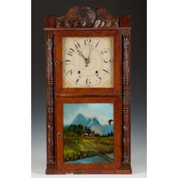 Julius Peck & Company Carved Shelf Clock