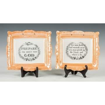 Sunderland Iron/Orange Lustre Plaques