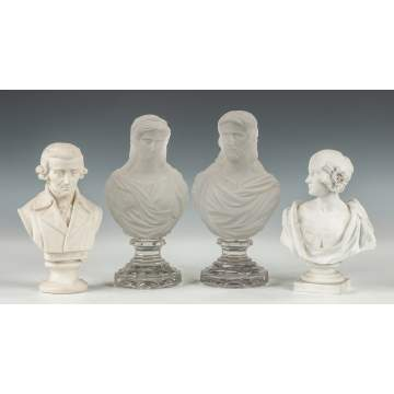 Bisque & Baccarat Busts