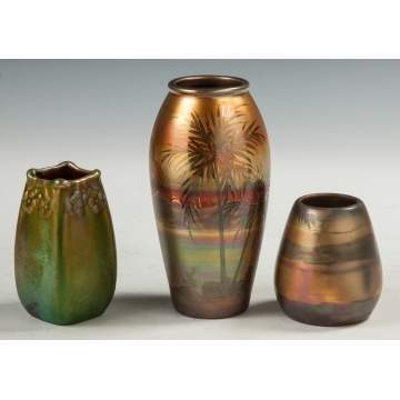 Weller Sicard Two Weller Lasa Pottery Vases Cottone Auctions