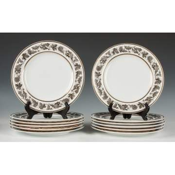 Set of 12 Spode Copeland Plates, Retail by Tiffany & Co. Plates