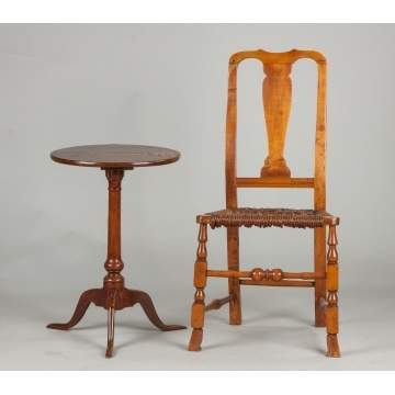 New England Candlestand & Side Chair