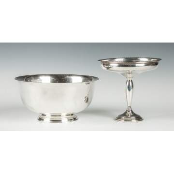 Wallace Sterling Silver Bowl & Compote