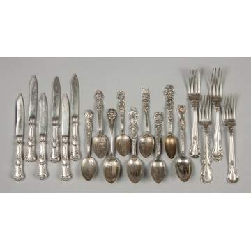 Group of Various Sterling Silver Flatware & Serving Pieces