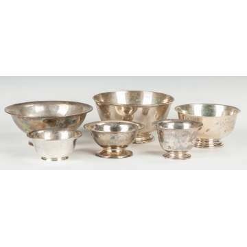 Group of Sterling Silver Bowls