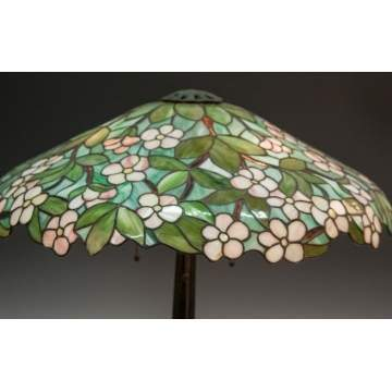 Seuss leaded glass lamp shade with apple blossoms cottone auctions seuss leaded glass lamp shade with apple blossoms aloadofball Gallery