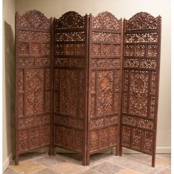 Carved Hardwood Screen