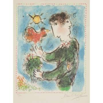 "Marc Chagall (Russian, 1887-1985) ""Day Break"""