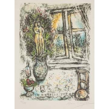 "Marc Chagall (Russian, 1887-1985) ""The Half Opened Window"""