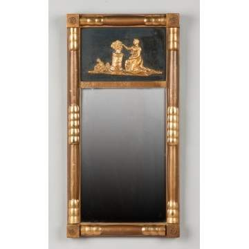 Gilt Wood Mirror with Classical Relief