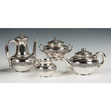 Tiffany and Co. Sterling Silver Four-Piece Tea Set
