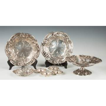 Group of Reed & Barton Sterling Silver Tableware - Les Six Fleurs Pattern