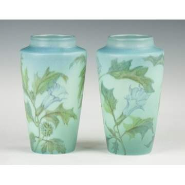 Pair of Rookwood Vellum Glazed Vases