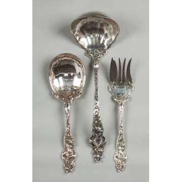 Reed & Barton Sterling Silver Serving Pieces - Les Six Fleurs Pattern
