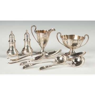 Group of Sterling Silver Table Articles and Various Flatware