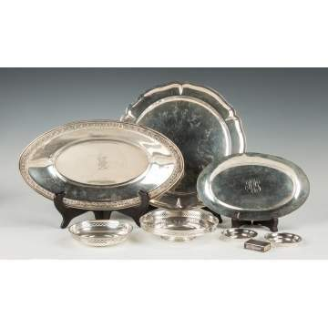 Group of Sterling Silver Trays