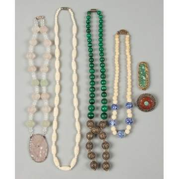 Group of Necklaces & Brooches