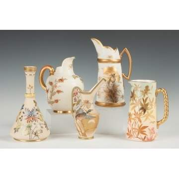 Group of Five Royal Worcester Pitchers