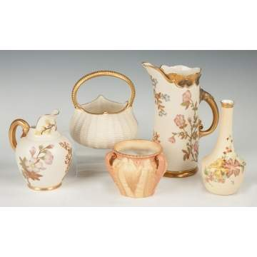 Group of Five Royal Worcester Pieces
