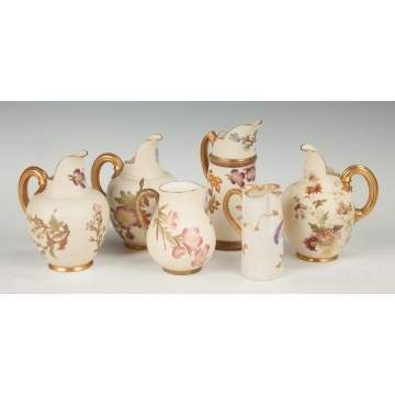 Group of Six Royal Worcester Creamers
