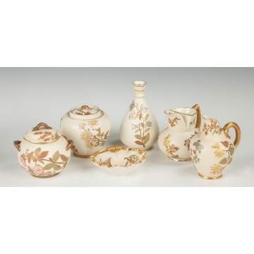 Group of Six Royal Worcester Pieces