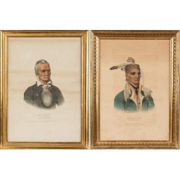 Two Lithographs of Indian Chiefs