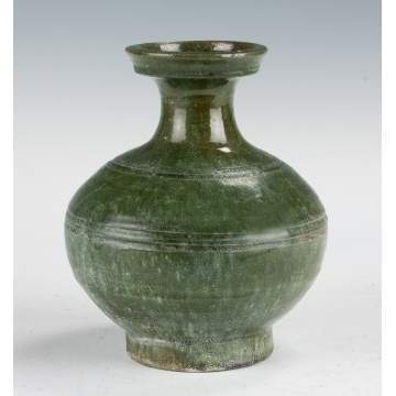 Early Chinese Green Glazed Hu Vessel