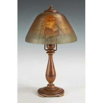 Moe Bridges Boudoir Lamp with Ship