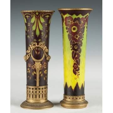 French Cameo Vases