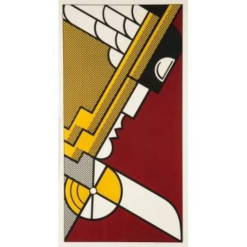 "Roy Lichtenstein (American, 1923-1997) ""Salute to Aviation"" (C. 63)"