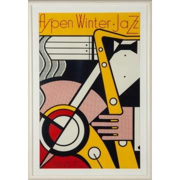 "Roy Lichtenstein (American, 1923-1997) ""Aspen Winter Jazz"" (C. 44)"