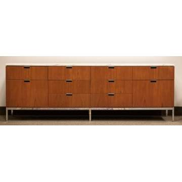 Florence Knoll Marble Top Credenza