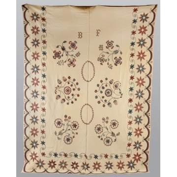 Embroidered Wool Bedcover