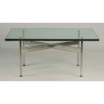 Chrome & Plate Glass Coffee Table