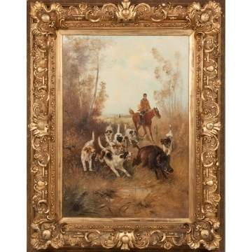 Painting of a Wild Boar Hunting Scene