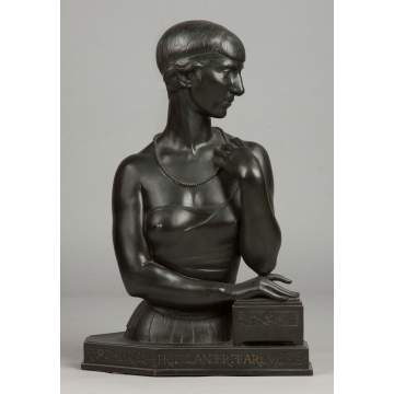 Leo Friedlander (American, 1888-1966) Art Deco Bronze of a Young Lady