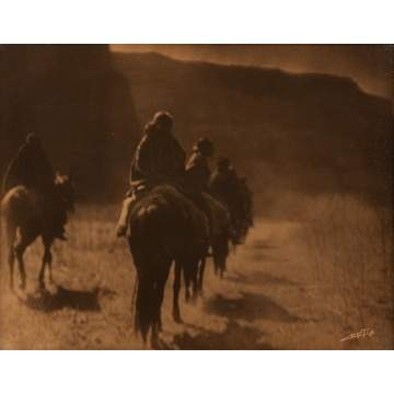 "Edward Curtis ""The Vanishing Race"" Gold Tone"