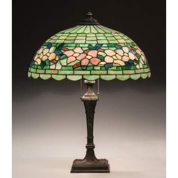 Wilkinson Leaded Glass Floral Table Lamp