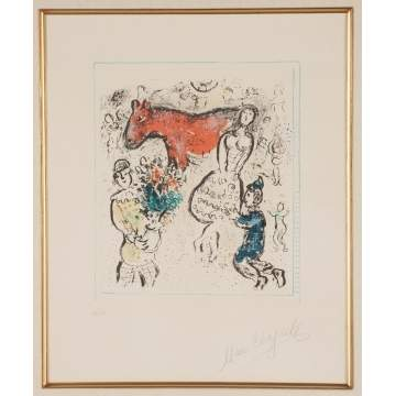 "Marc Chagall (Russian, 1887-1985) ""The Little Red Horse,"" Le petit Cheval rouge"" (M.742)"