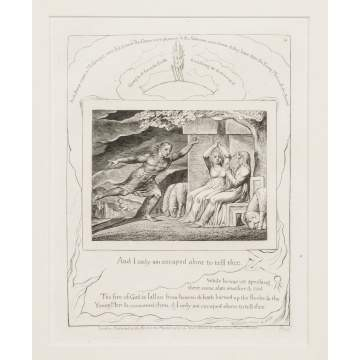 "William Blake (English, 1757-1827) ""Illustration IV from ""The Book of Job"""