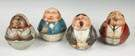 Group of 4 Tin Lithograph Mayo's Cut Plug Tobacco Roly Polys