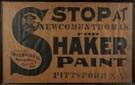 Newcomb & Thomas for Shaker Paint, Pittsford, NY, Advertising Sign