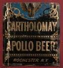 Bartholomay Apollo Beer, Rochester, NY, Painted & Pressed Tin Advertising Sign