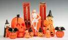 Group of Vintage Wax Halloween Candles