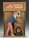 "Vintage Uncle Sam ""Invest in America"" Automated Bond Display"