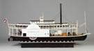 """The Paul Jones"" Carved and Painted Wood Riverboat Model"