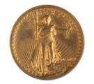 1907 Twenty Dollar High Relief Standing Liberty Gold Coin